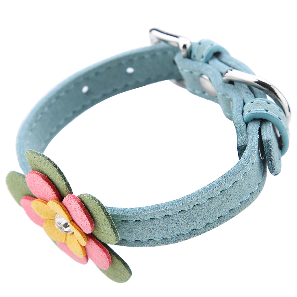 Colorful-Leather-Personalized-Engraved-Dog-Collar-Puppy-Cat-Pet-Collars-ID-Tag thumbnail 89