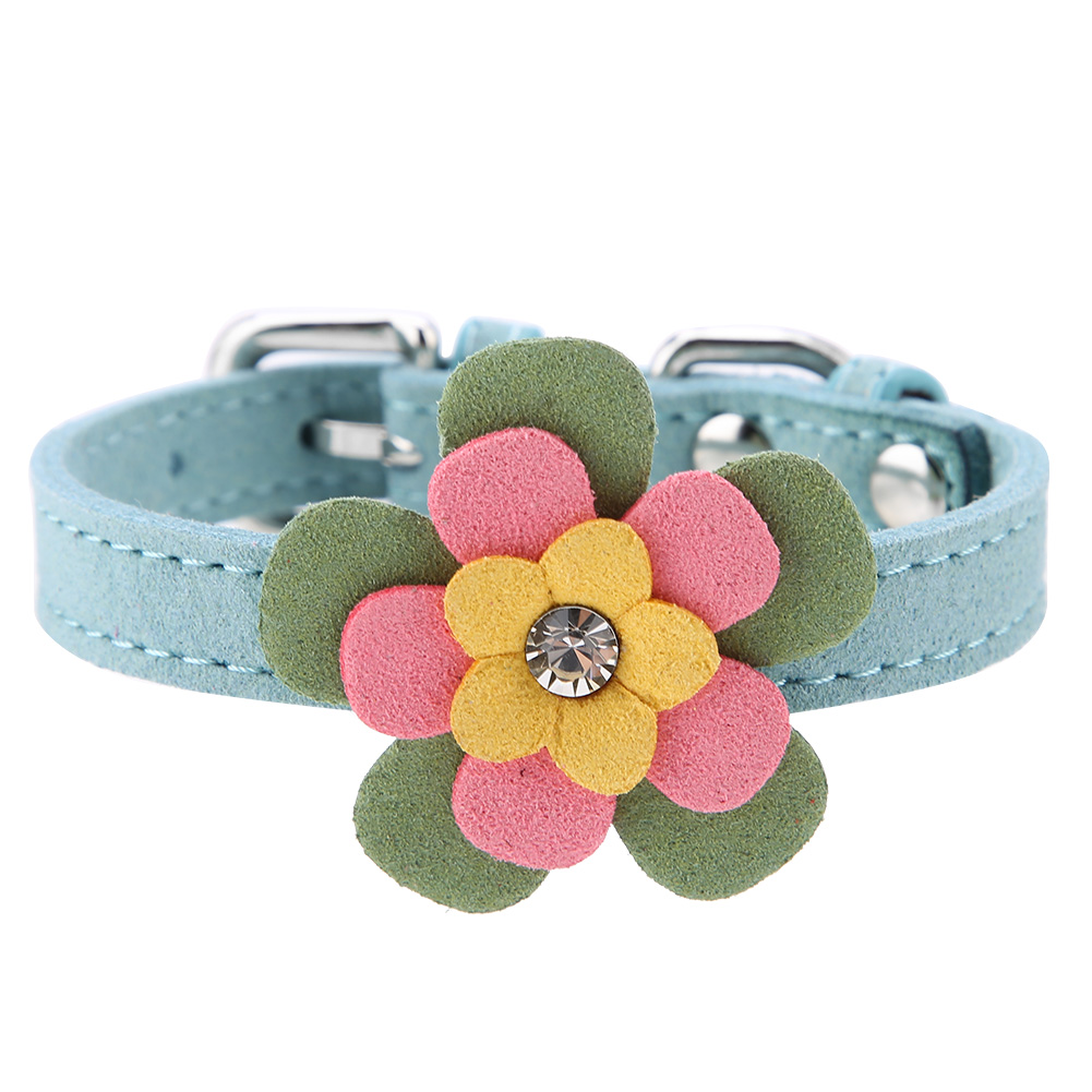 Colorful-Leather-Personalized-Engraved-Dog-Collar-Puppy-Cat-Pet-Collars-ID-Tag thumbnail 90