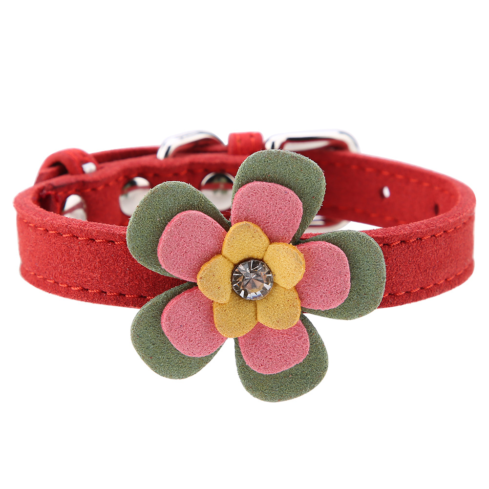Colorful-Leather-Personalized-Engraved-Dog-Collar-Puppy-Cat-Pet-Collars-ID-Tag thumbnail 107