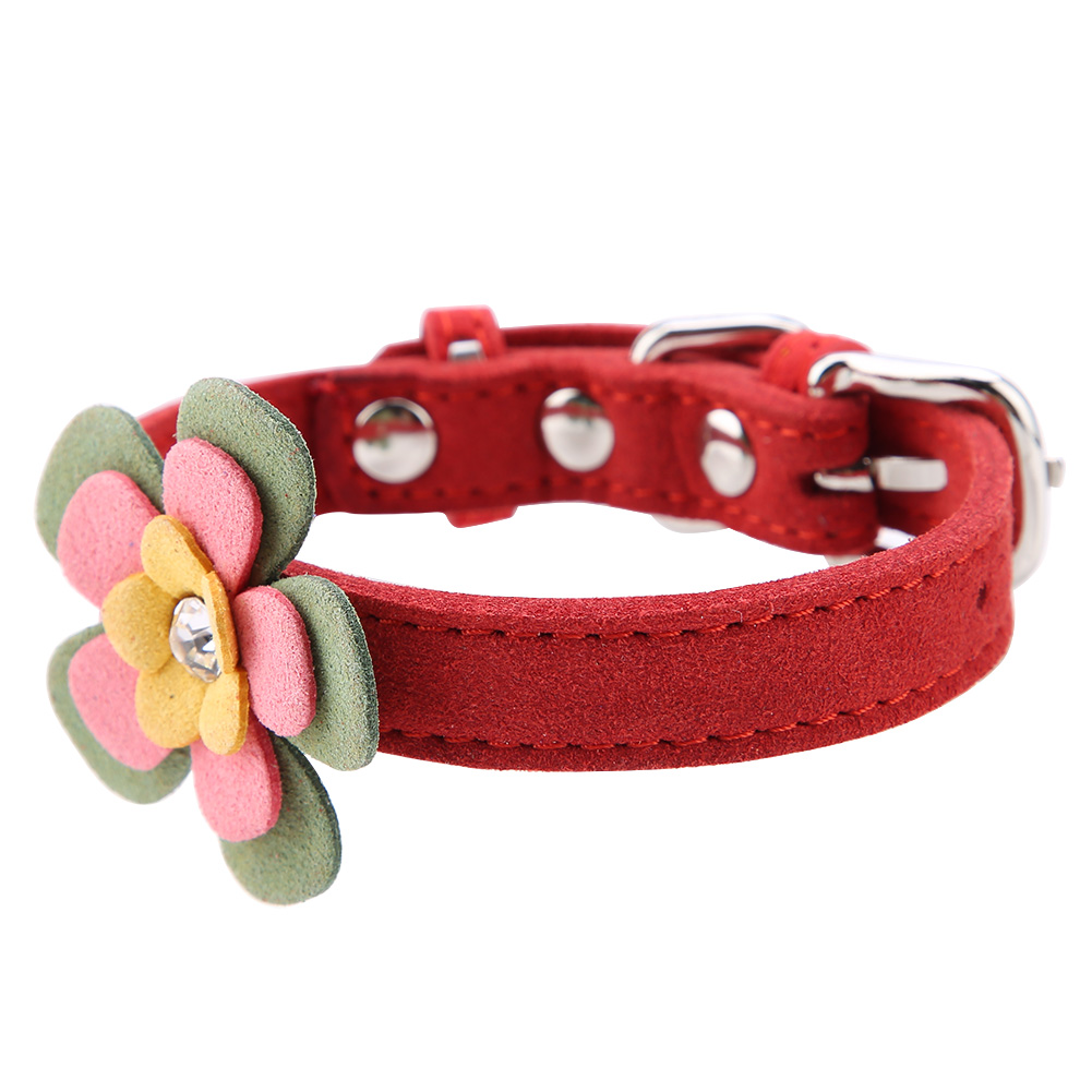 Colorful-Leather-Personalized-Engraved-Dog-Collar-Puppy-Cat-Pet-Collars-ID-Tag thumbnail 111