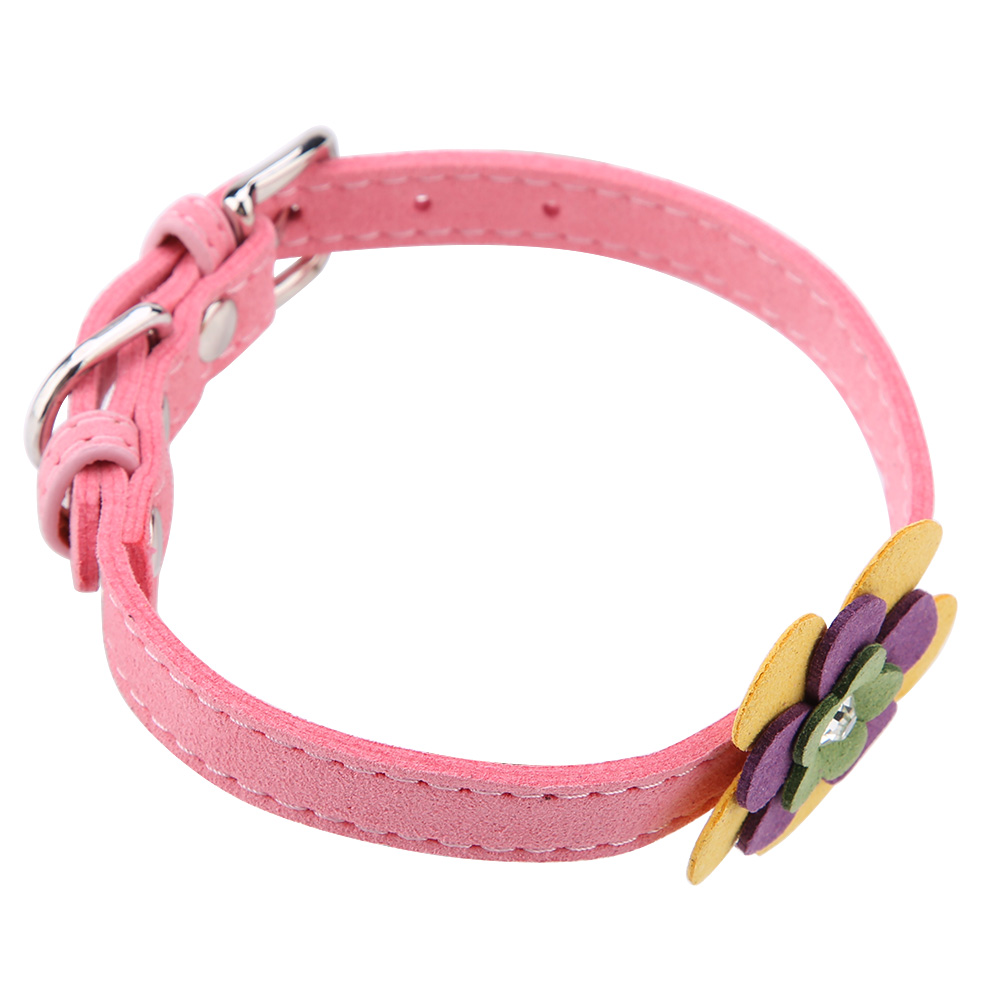 Colorful-Leather-Personalized-Engraved-Dog-Collar-Puppy-Cat-Pet-Collars-ID-Tag thumbnail 116
