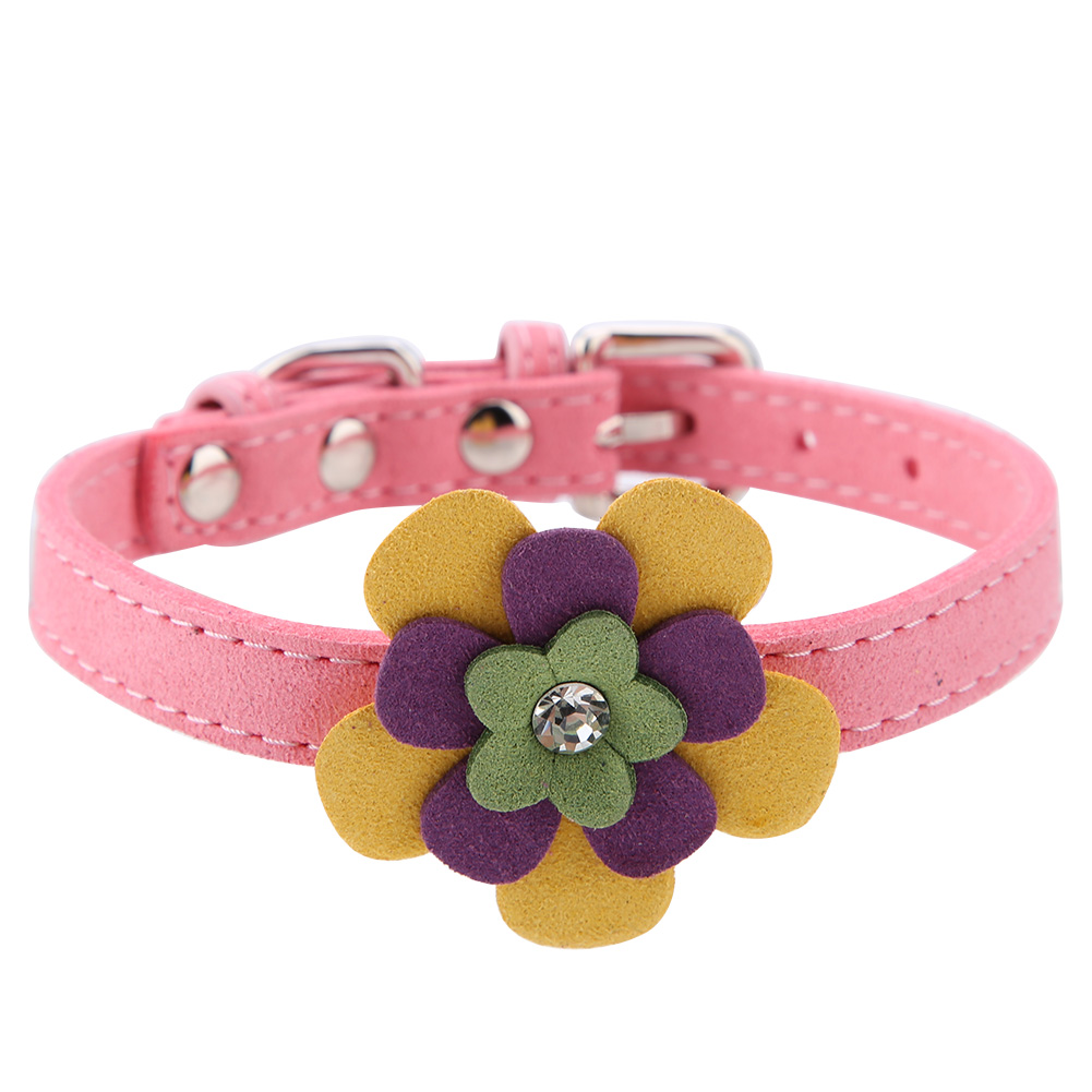 Colorful-Leather-Personalized-Engraved-Dog-Collar-Puppy-Cat-Pet-Collars-ID-Tag thumbnail 117