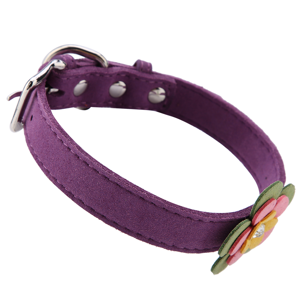 Colorful-Leather-Personalized-Engraved-Dog-Collar-Puppy-Cat-Pet-Collars-ID-Tag thumbnail 126