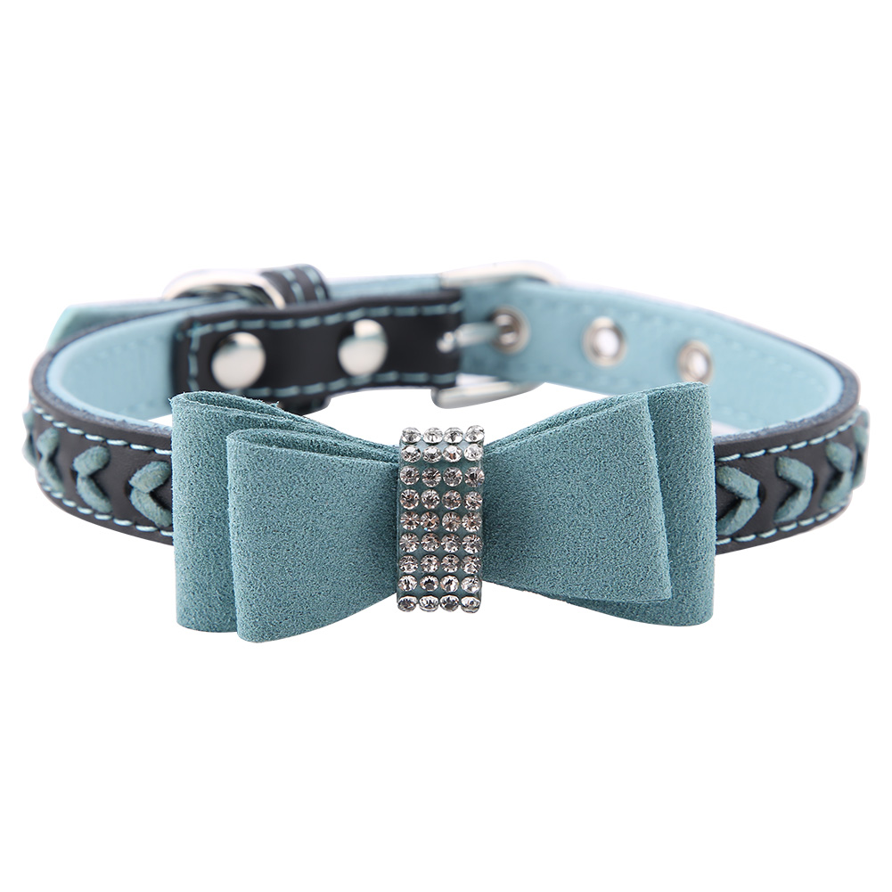 Colorful-Leather-Personalized-Engraved-Dog-Collar-Puppy-Cat-Pet-Collars-ID-Tag thumbnail 144