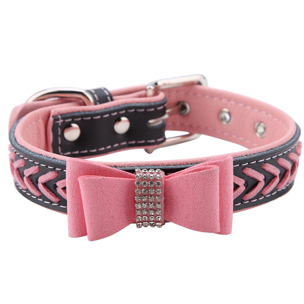 Colorful-Leather-Personalized-Engraved-Dog-Collar-Puppy-Cat-Pet-Collars-ID-Tag thumbnail 147