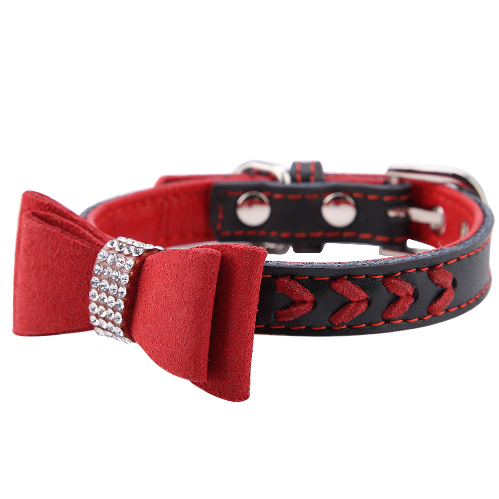 Colorful-Leather-Personalized-Engraved-Dog-Collar-Puppy-Cat-Pet-Collars-ID-Tag thumbnail 161