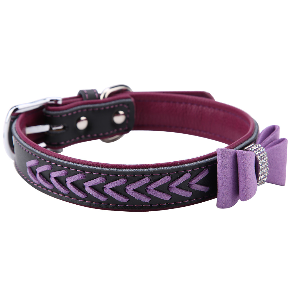 Colorful-Leather-Personalized-Engraved-Dog-Collar-Puppy-Cat-Pet-Collars-ID-Tag thumbnail 174