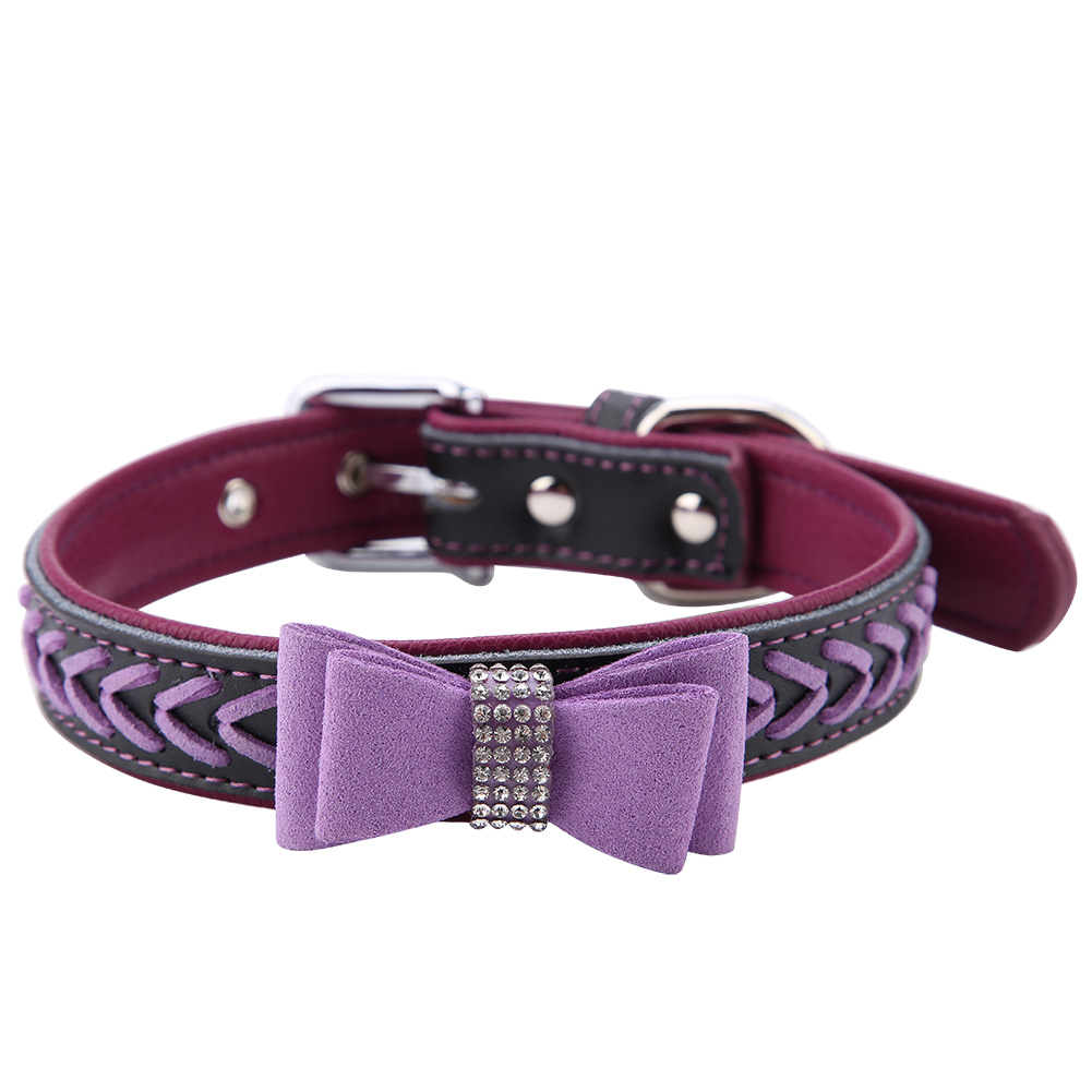 Colorful-Leather-Personalized-Engraved-Dog-Collar-Puppy-Cat-Pet-Collars-ID-Tag thumbnail 176