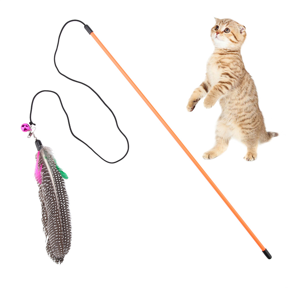 Feather-Activity-Toy-Funny-Cat-Kitten-Pet-Teaser-Teaser-Wire-Chaser-Wand-Toys miniature 14