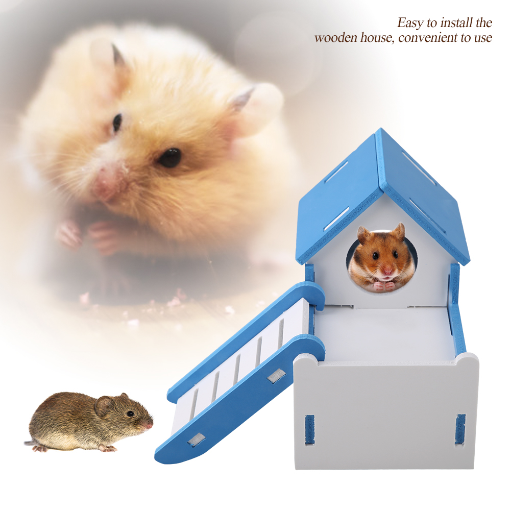 Hamster-Rat-Natural-Wooden-Slide-Toys-House-Cage-Exercise-Fun-Non-Toxic-Washable thumbnail 15