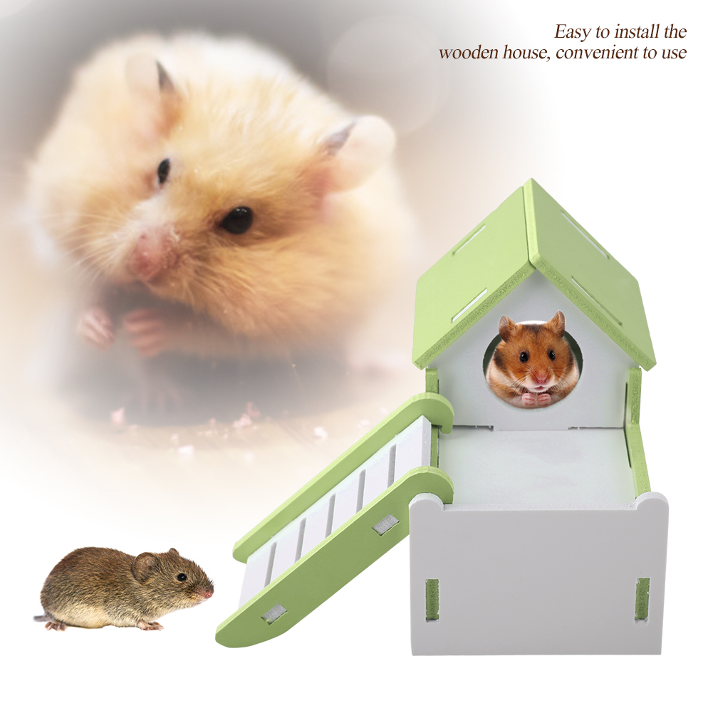 Hamster-Rat-Natural-Wooden-Slide-Toys-House-Cage-Exercise-Fun-Non-Toxic-Washable thumbnail 21