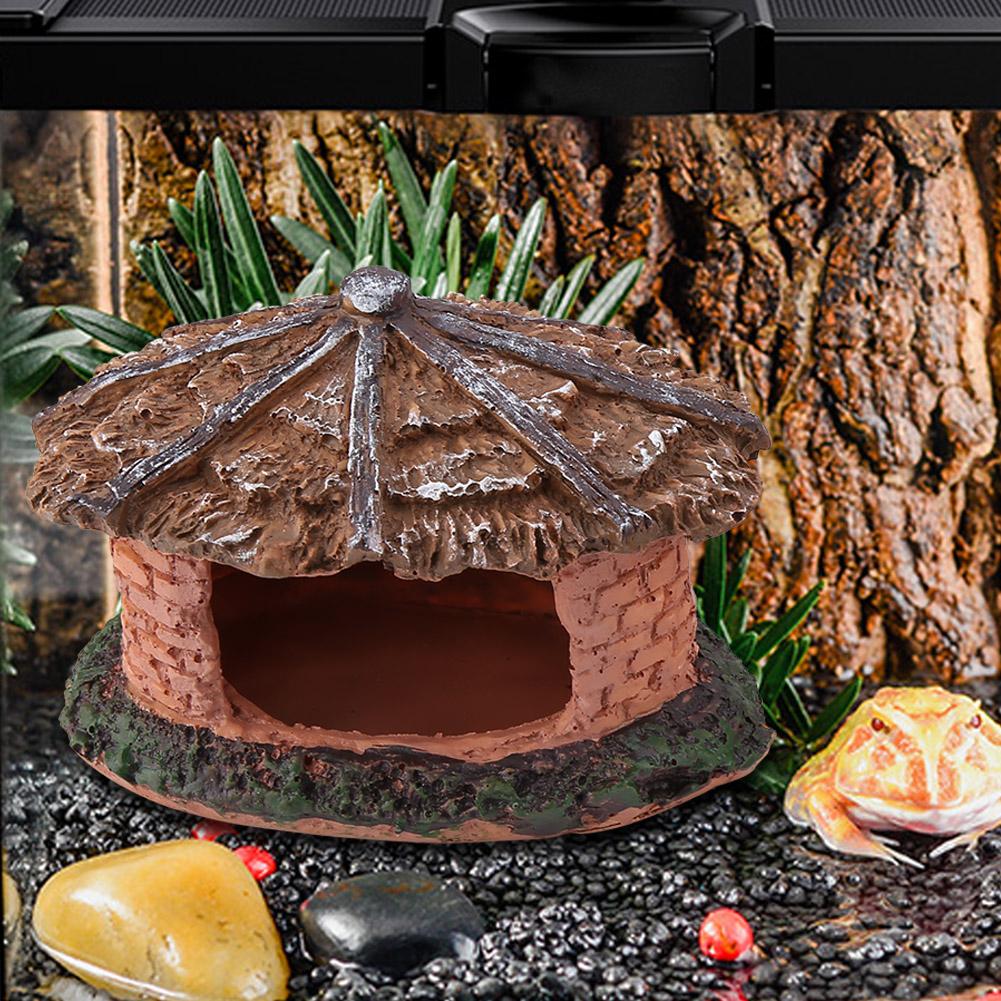 Reptile-Turtle-Climbing-Artificial-Hiding-Cave-Tank-Decor-Landscape-Ornament thumbnail 17