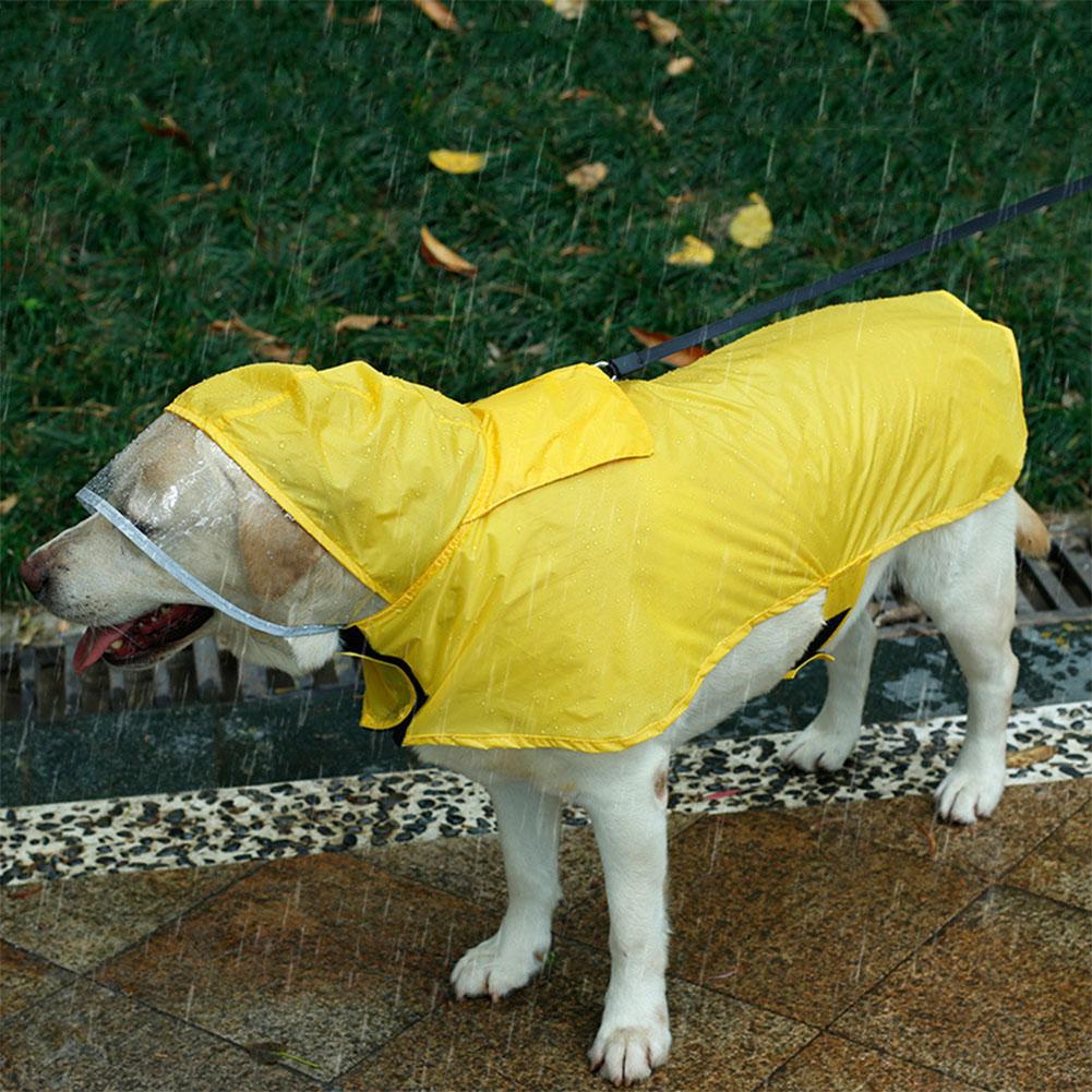 Dog Clothing & Shoes Bright Waterproof Dog Rain Coat Jacket Puppy Outdoor Hooded Raincoat Pet Rain Clothes
