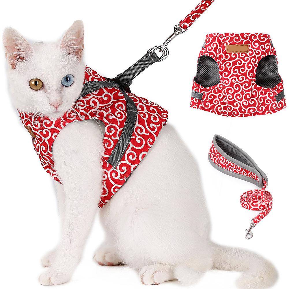 Escape-Proof-Cat-Harness-Padded-Vest-Leash-Adjustable-Soft-Mesh-for-Cat-Walking thumbnail 12