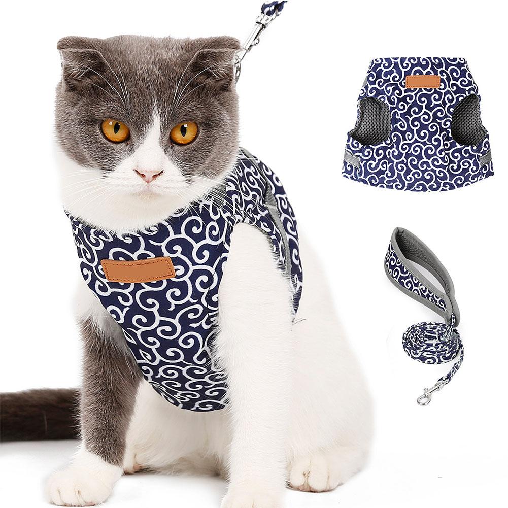 Escape-Proof-Cat-Harness-Padded-Vest-Leash-Adjustable-Soft-Mesh-for-Cat-Walking thumbnail 15