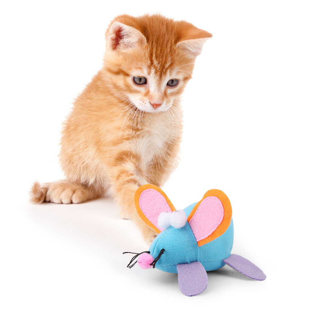 Multi-Funny-Pet-Cat-Kitten-Toy-Mouse-Teaser-Wand-Feather-Rod-Cat-Play-Toys-Lot miniature 14