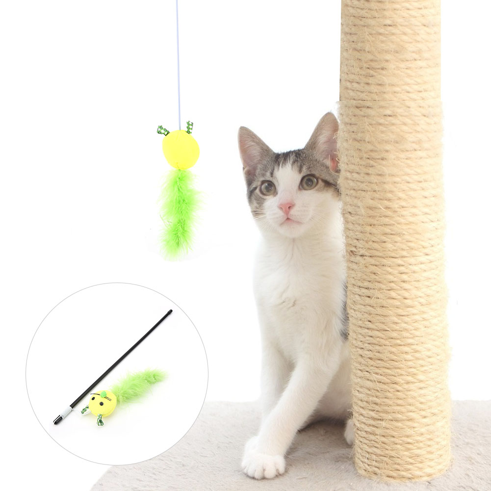 Multi-Funny-Pet-Cat-Kitten-Toy-Mouse-Teaser-Wand-Feather-Rod-Cat-Play-Toys-Lot miniature 21