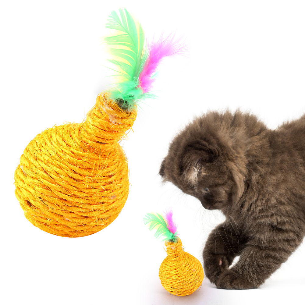 Multi-Funny-Pet-Cat-Kitten-Toy-Mouse-Teaser-Wand-Feather-Rod-Cat-Play-Toys-Lot miniature 23