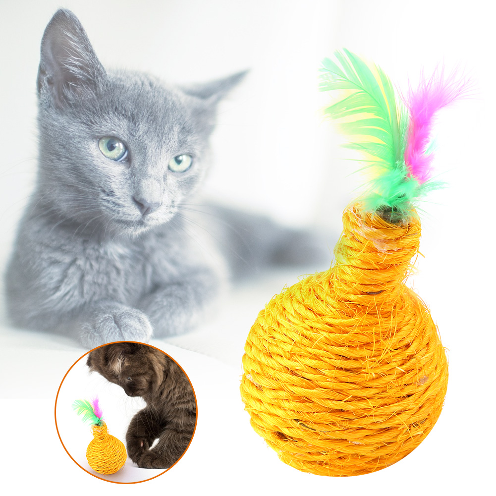 Multi-Funny-Pet-Cat-Kitten-Toy-Mouse-Teaser-Wand-Feather-Rod-Cat-Play-Toys-Lot miniature 24