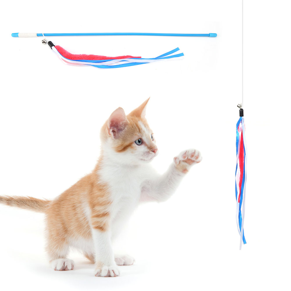Multi-Funny-Pet-Cat-Kitten-Toy-Mouse-Teaser-Wand-Feather-Rod-Cat-Play-Toys-Lot miniature 47