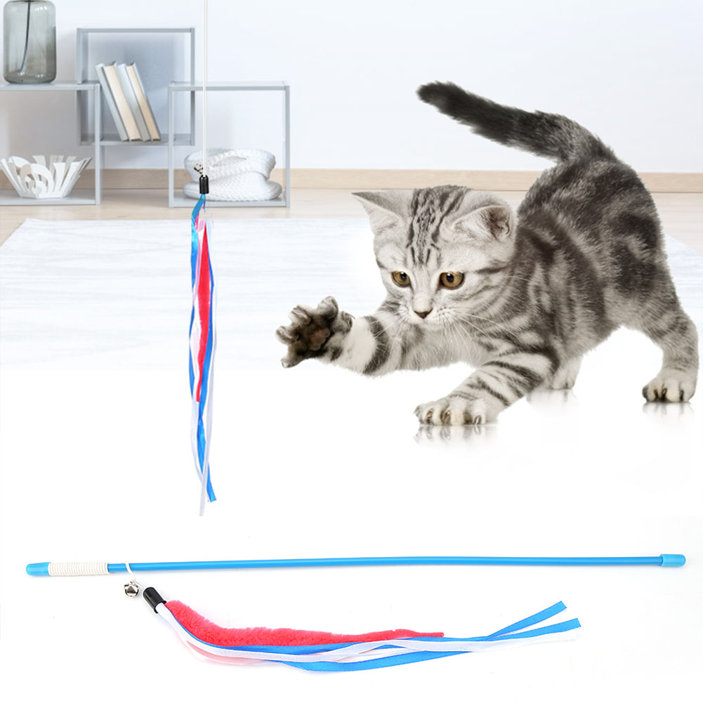 Multi-Funny-Pet-Cat-Kitten-Toy-Mouse-Teaser-Wand-Feather-Rod-Cat-Play-Toys-Lot miniature 48
