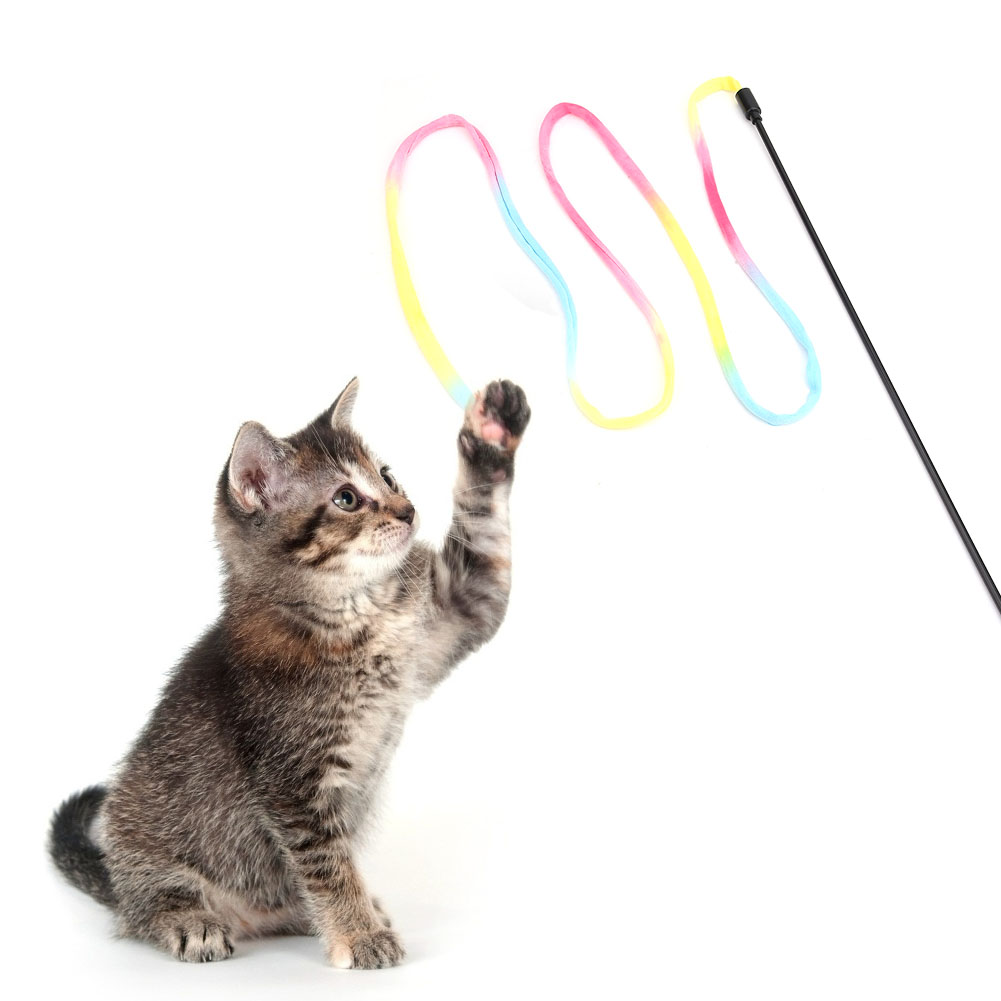 Multi-Funny-Pet-Cat-Kitten-Toy-Mouse-Teaser-Wand-Feather-Rod-Cat-Play-Toys-Lot miniature 50