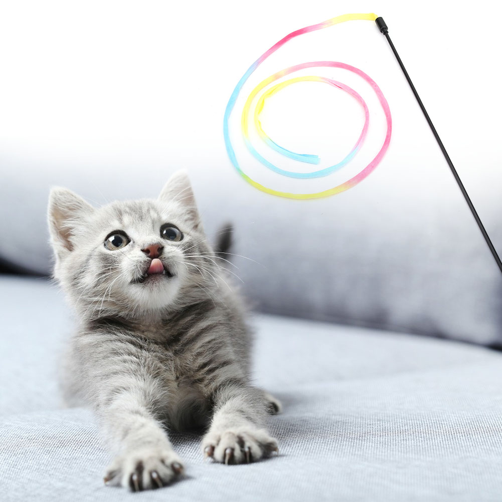 Multi-Funny-Pet-Cat-Kitten-Toy-Mouse-Teaser-Wand-Feather-Rod-Cat-Play-Toys-Lot miniature 51