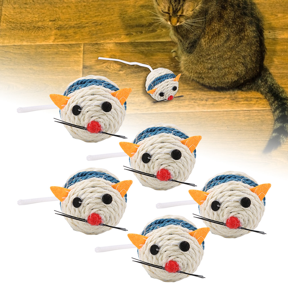 Multi-Funny-Pet-Cat-Kitten-Toy-Mouse-Teaser-Wand-Feather-Rod-Cat-Play-Toys-Lot miniature 53