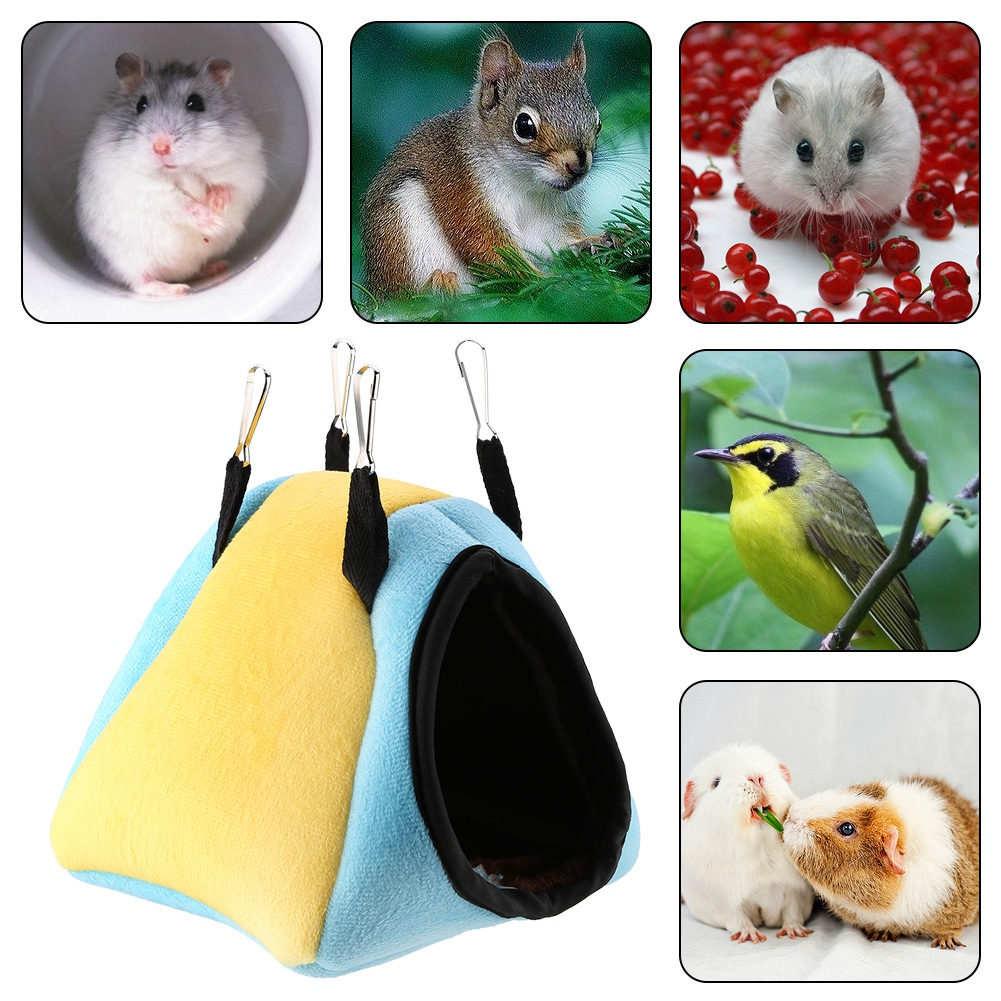 Super-Small-Pets-Winter-Warm-Cage-Bed-House-Toys-For-Hamster-Guinea-Pig-Mouse thumbnail 15