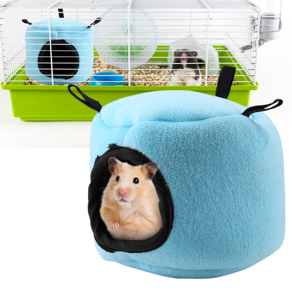 Super-Small-Pets-Winter-Warm-Cage-Bed-House-Toys-For-Hamster-Guinea-Pig-Mouse thumbnail 21