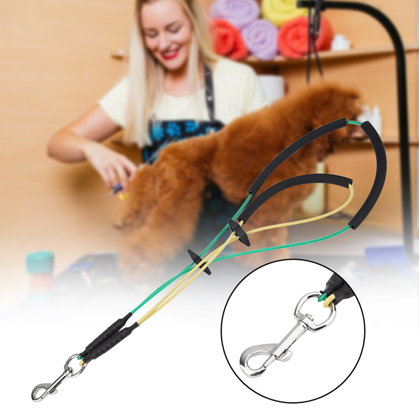 2019-Pet-Noose-Loop-Lock-Clip-Rope-Lead-For-Grooming-Table-Arm-Bath-Adjustable thumbnail 17