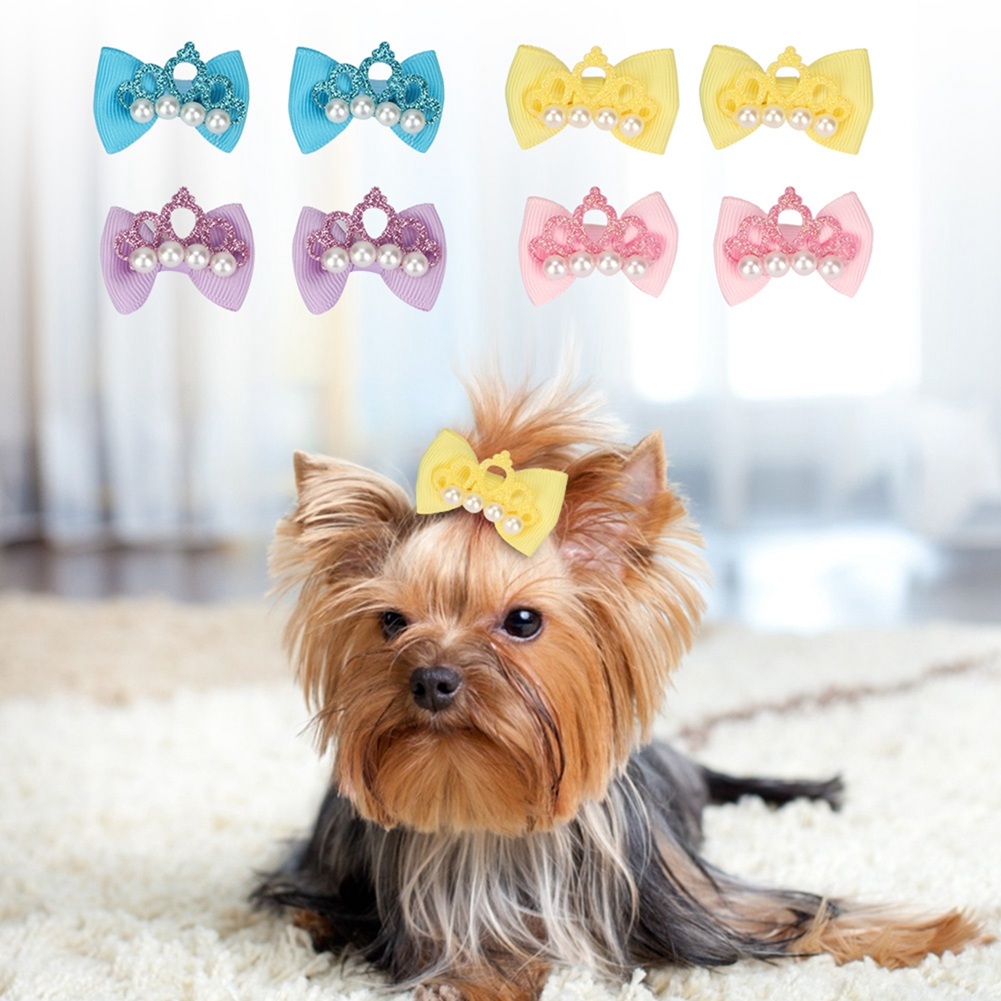 10-20-30Pcs-Pet-Dog-Hair-Bow-Rubber-Band-Small-Cat-Puppy-Bowknot-Grooming thumbnail 35