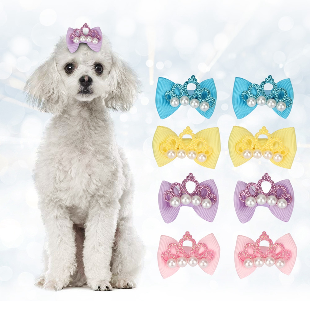 10-20-30Pcs-Pet-Dog-Hair-Bow-Rubber-Band-Small-Cat-Puppy-Bowknot-Grooming thumbnail 36