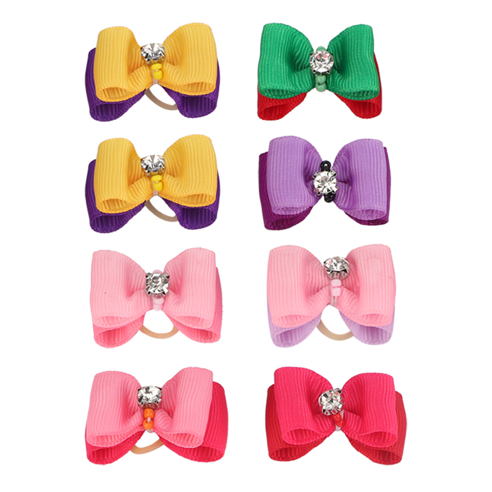 10-20-30Pcs-Pet-Dog-Hair-Bow-Rubber-Band-Small-Cat-Puppy-Bowknot-Grooming thumbnail 32