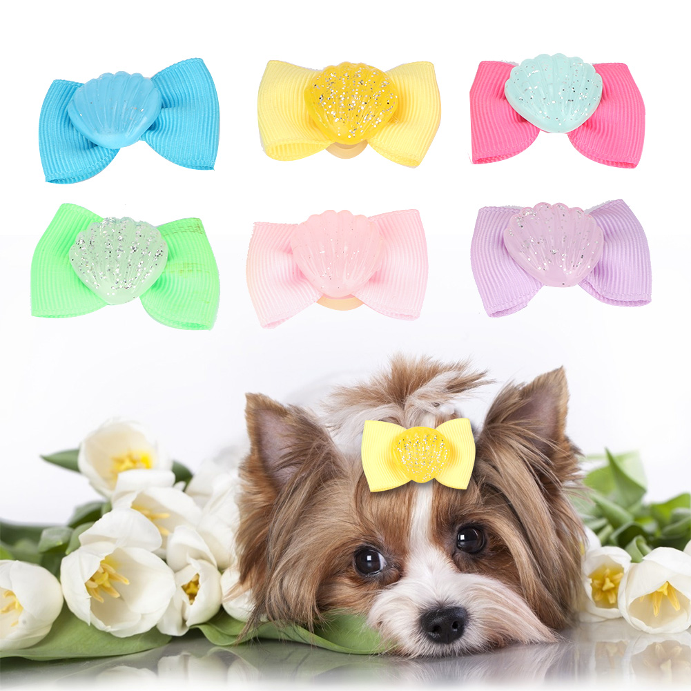 10-20-30Pcs-Pet-Dog-Hair-Bow-Rubber-Band-Small-Cat-Puppy-Bowknot-Grooming thumbnail 27