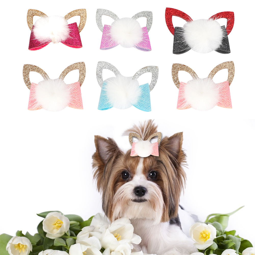10-20-30Pcs-Pet-Dog-Hair-Bow-Rubber-Band-Small-Cat-Puppy-Bowknot-Grooming thumbnail 24