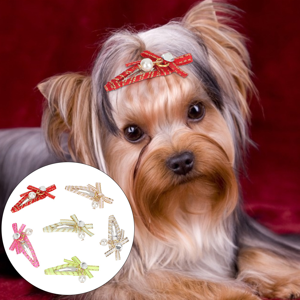 10-20-30Pcs-Pet-Dog-Hair-Bow-Rubber-Band-Small-Cat-Puppy-Bowknot-Grooming thumbnail 14