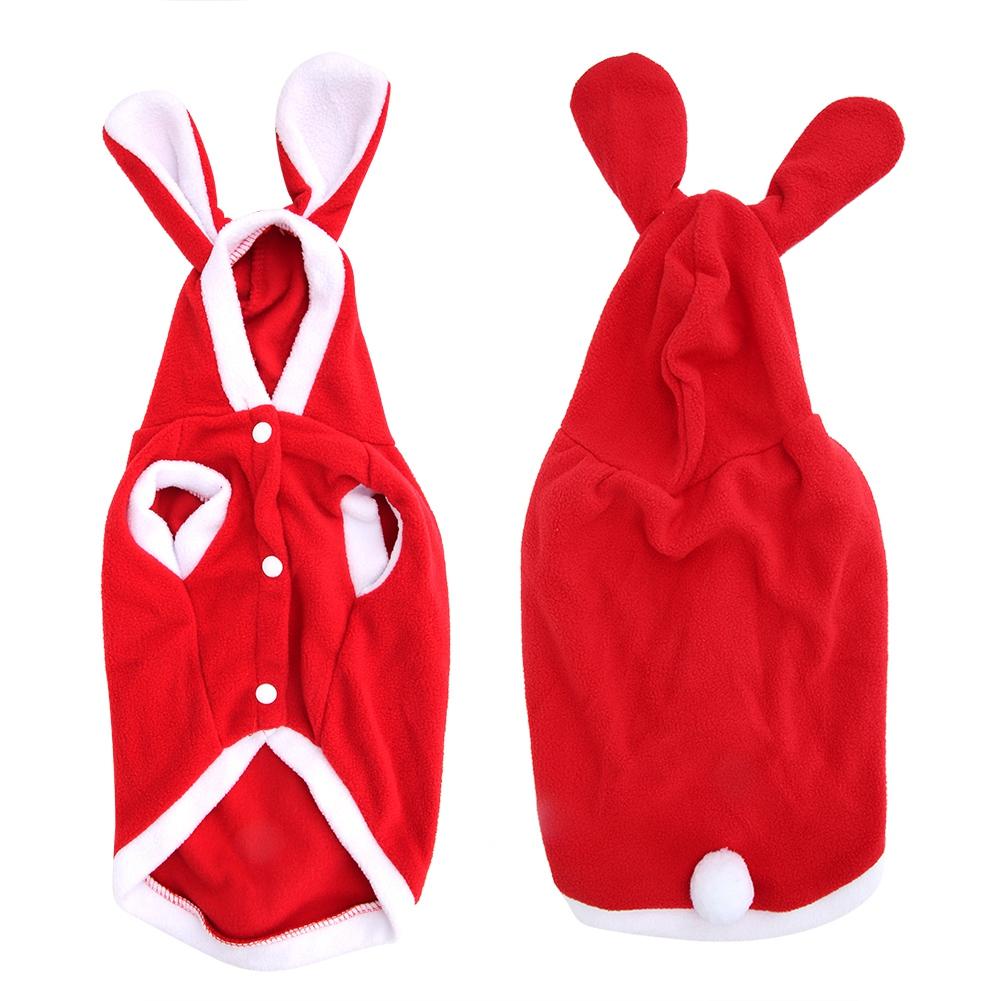 Warm-Cute-Rabbit-Styles-Puppy-Pet-Dog-Winter-Apparel-Clothes-Hoodie-Jumpsuit thumbnail 21
