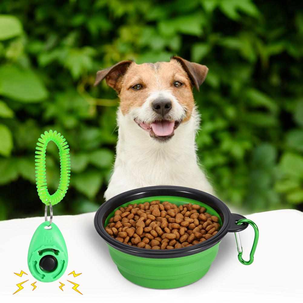 Details about Silica Gel Pet Travel Bowl for Dog Cat Feeding Food Water  Camping Foldable