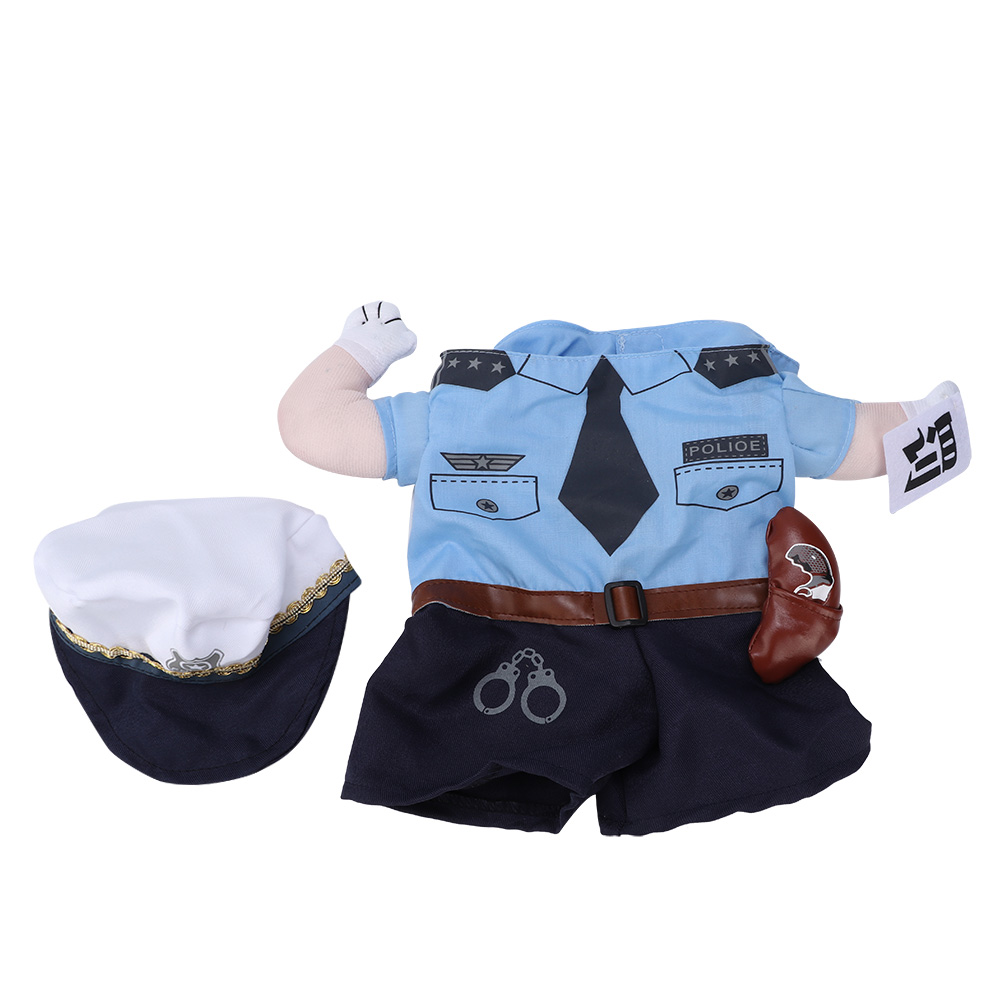 Pet-Policeman-Costume-Dog-Outfit-Apparel-Clothes-Halloween-Christmas-Theme thumbnail 13