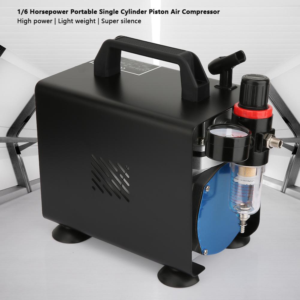 Airbrush-Luftkompressor-Zylinderluftkompressor-3L-1-6-PS-Kompressor-5STAR Indexbild 2
