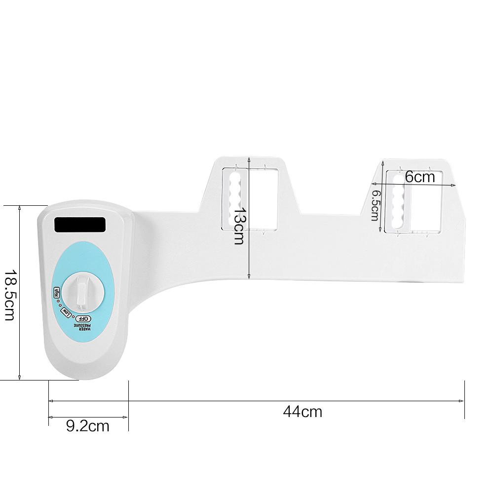 PowerDoF EB8601 Buse autonettoyante deau douce chaude et froide Fixation de bidet m/écanique pour WC avec temp/érature r/églable Bidet