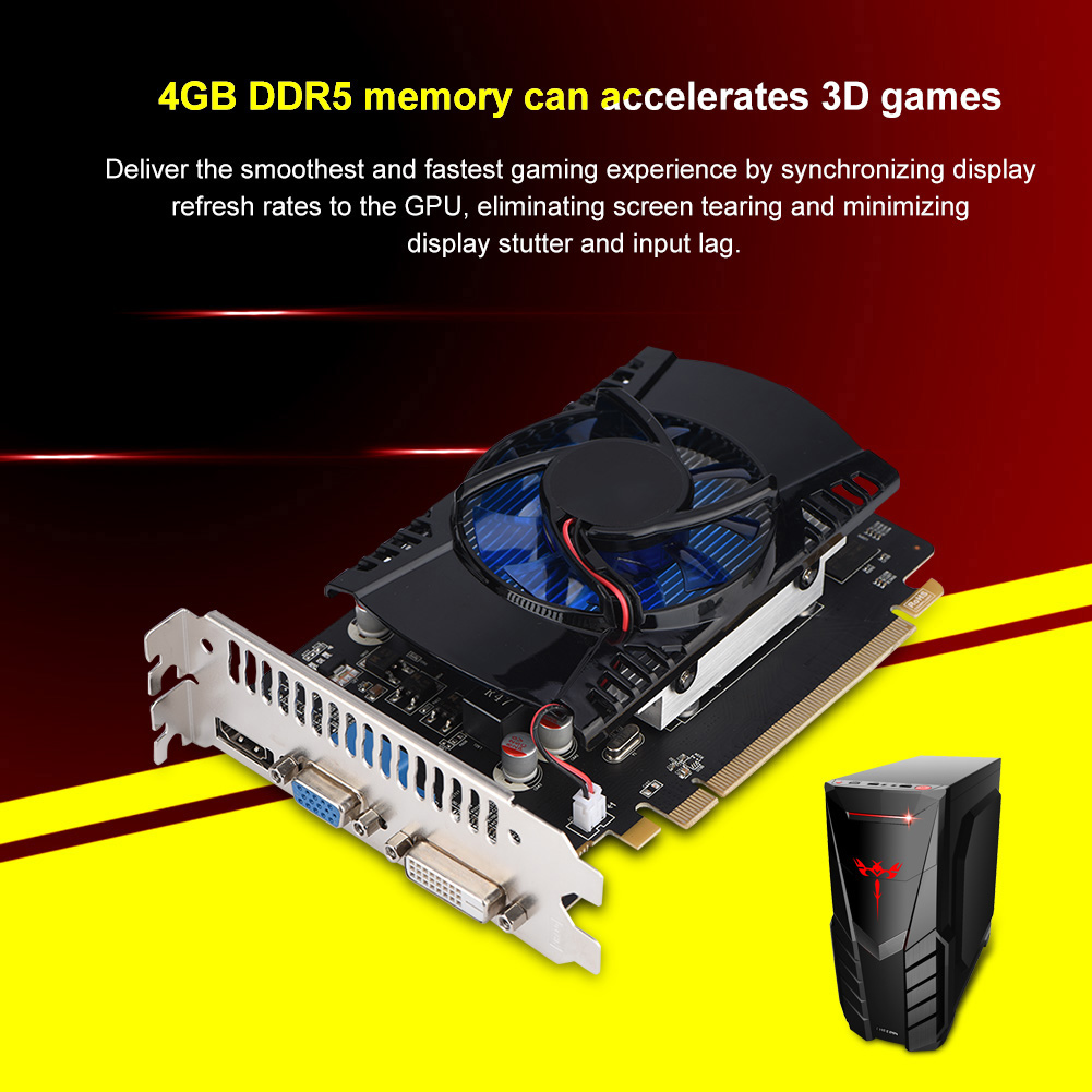 128bit-PCI-E-HD7670-4G-GDDR5-Videojuego-Tarjeta-Grafica-480-Procesador-de-Flujo