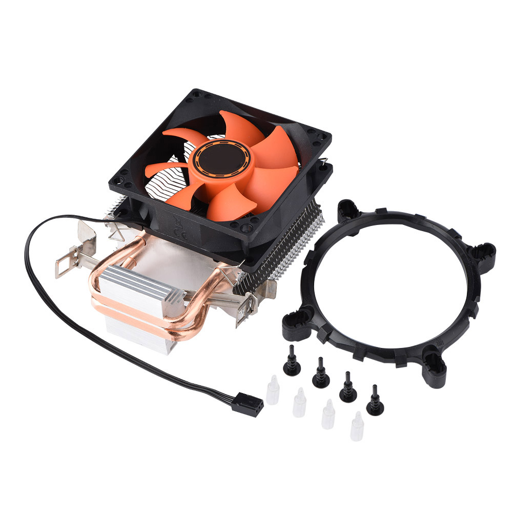 3-Pin-80mm-PC-Computer-Case-CPU-Cooler-Cooling-Fan-Radiator-with-2-Heat-Pipes-AF