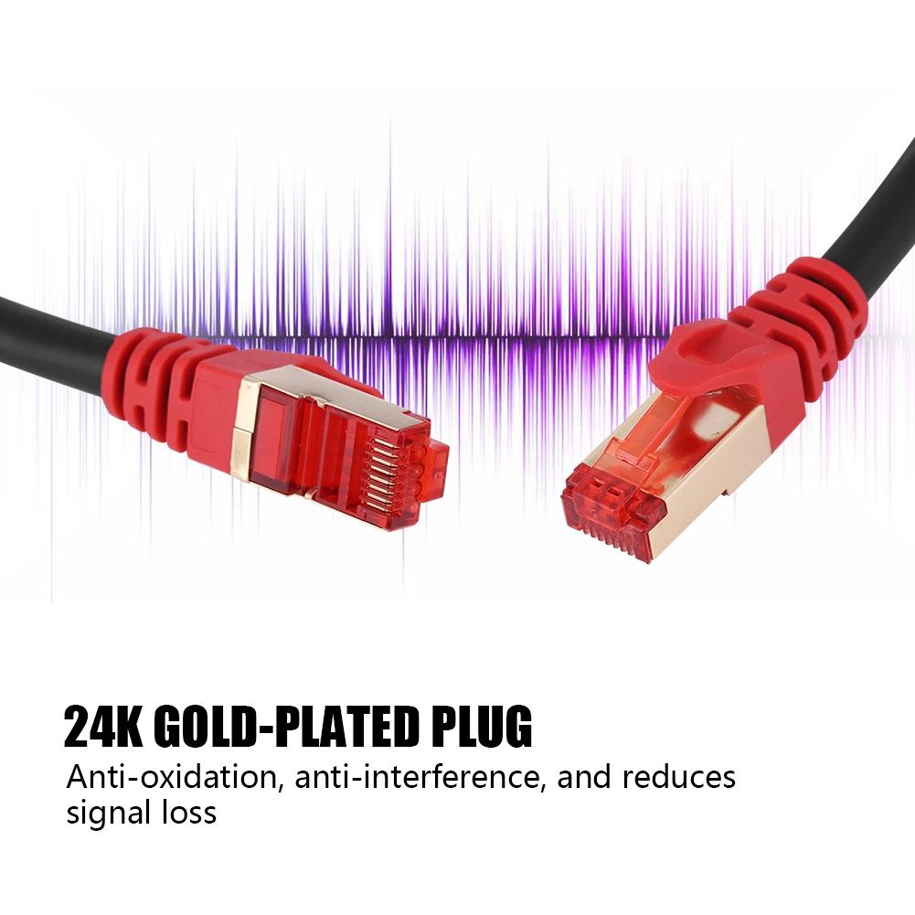 1 50m rj45 cat7 network ethernet 10gbps gigabit patch lan. Black Bedroom Furniture Sets. Home Design Ideas