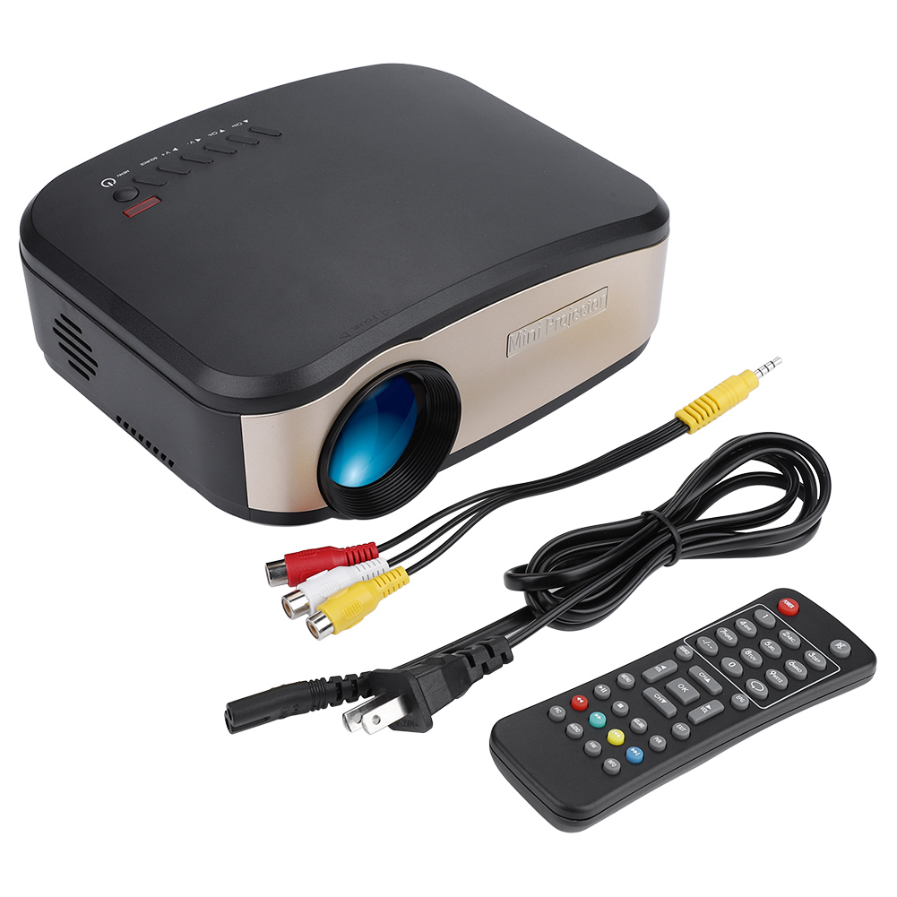 Mini 1080p Full Hd Led Projector Home Theater Cinema 3d: 7000 Lumens 3D 1080P Full HD Mini Projector LED Multimedia