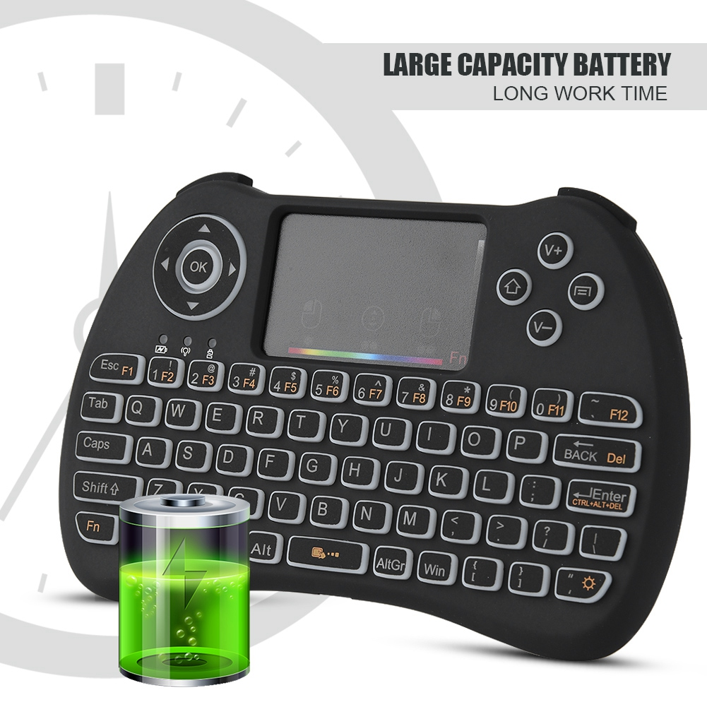 2.4G Mini Wireless Bluetooth Keyboard Touchpad for PC iOS
