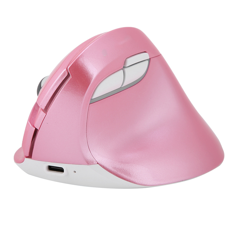 DELUX-2-4GHz-Rechargeable-Wired-Vertical-Mouse-Bluetooth-800-1000-1600-2400DPI thumbnail 10