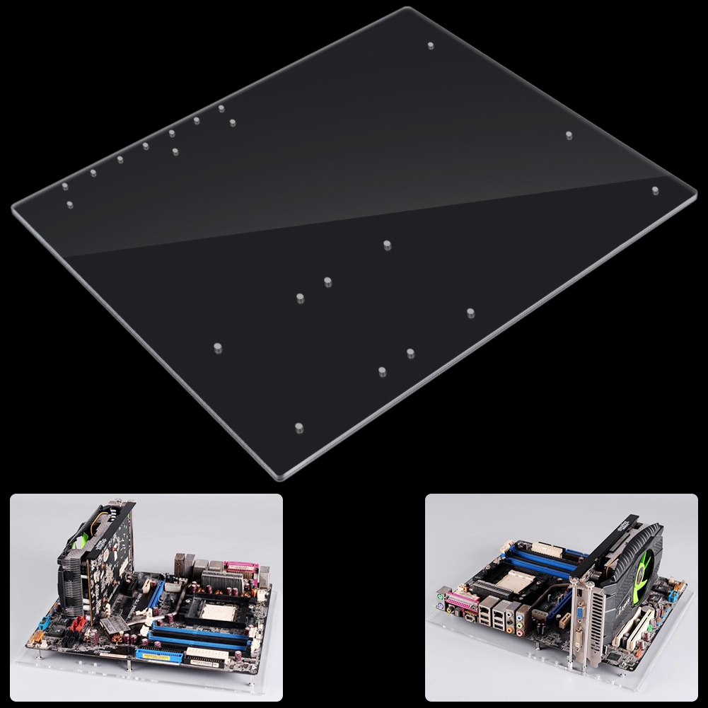 DIY-Open-Frame-ITX-M-ATX-ATX-Motherboard-Transparent-Stand-For-Computer-Case-SPS thumbnail 14