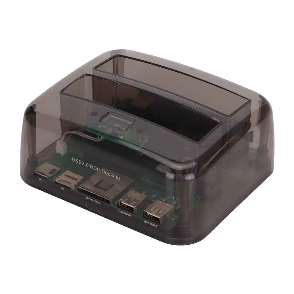 "2.5/"" 3.5/""IDE SATA Dual HDD Drive Base Clone Holder Dock Docking Station"
